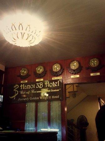 Reception of Hanoi 3B Hotel
