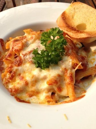 Aquatini Riverside Bar & Restaurant: Baked penne with eggplant