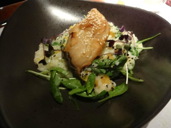Restaurant Bam Bou by Thomas: Black cod with risotto