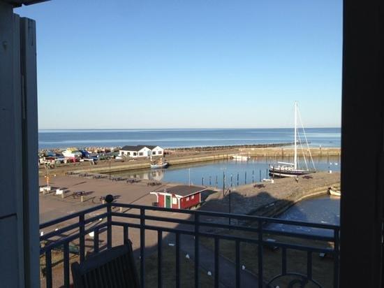 Hotel Kullaberg : Härligt att vakna och titta ut över Mölle hamn.