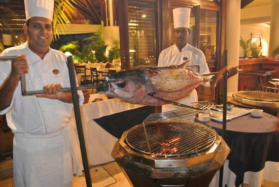 The Residence Mauritius: Seafood Buffet at the Dining Room