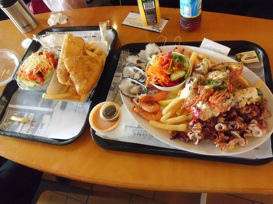 Kailis Fish Market Cafe: Fish & Chips Meal Plus BBQ Seafood Platter