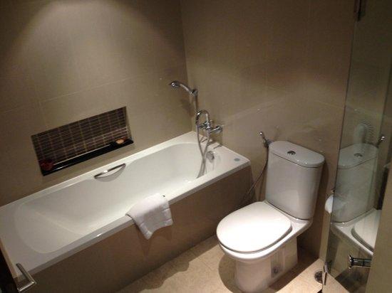 The Sukosol: 機能的に見えますが排水に欠陥がある浴室