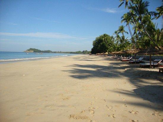 Ngapali Bay Villas & Spa : The uncrowded beach.