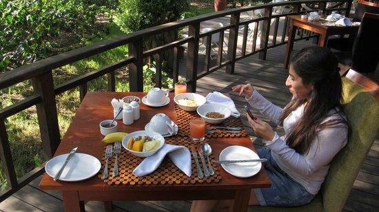 Lake Duluti Lodge : Breakfast terrace