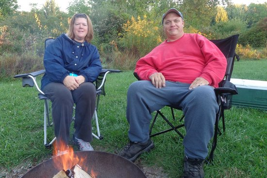 Maumee Bay State Park: Relaxing around the campfire