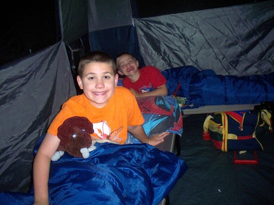 Maumee Bay State Park: Happy kids camping
