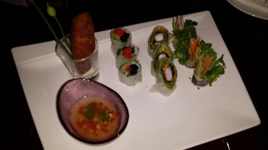 Green Mango : Re-created spring rolls! Delicious!