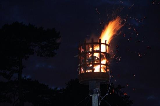Elmdon Park: The beacon lit for the Queen's Jubilee