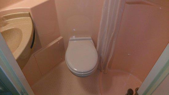 P'tit Dej-Hotel Saintes Recouvrance: El baño, limpio pero enano, tipo cabina de teléfono