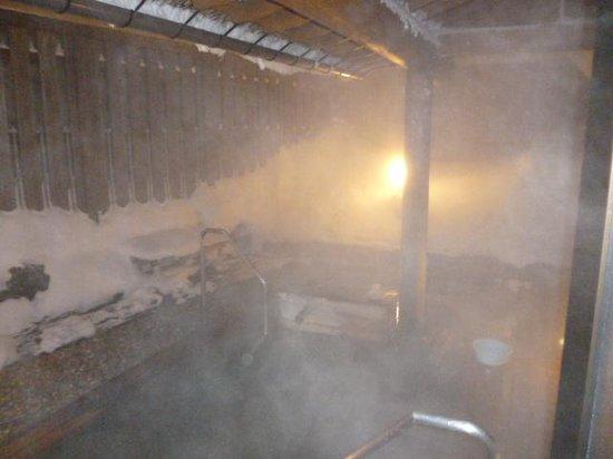 Shiga Kiraku Hotel: 雪見露天風呂