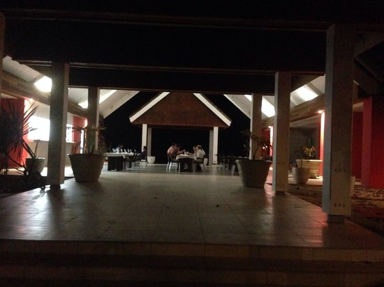 Le Pavillon by the Sea: Le Pavilion at night is a beautiful.