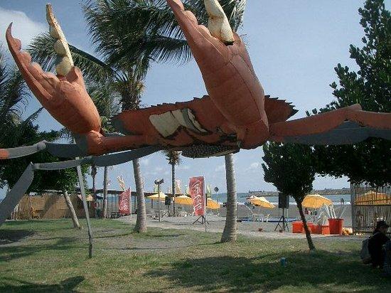 Cijin Seaside Park: カニのオブジェ
