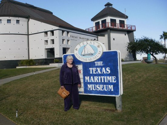 Lighthouse Inn at Aransas Bay: Marilyn at one of our sightseeing stops.