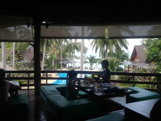 Green Papaya Resort : View from breakfast...