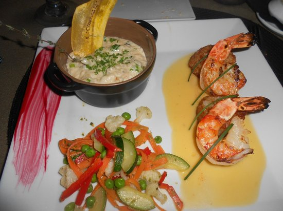 Le Cottage : Crab risotto and shrimp