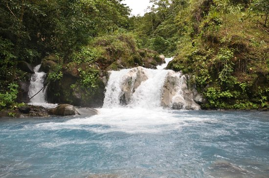 Blue River Resort & Hot Springs: Waterfall on Palmitos Hike