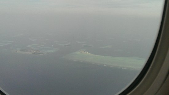 Cocoa Island by COMO: Cocoa Island spotted before landing