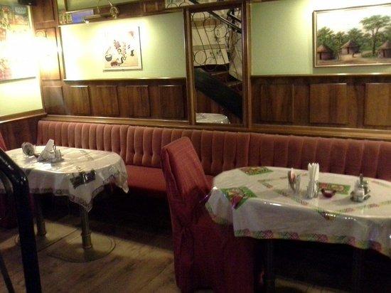 Ethiopian Restaurant: Ground floor.