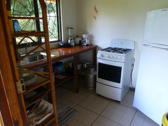 Coco Loco Lodge : Küche Bungalow Nr. 12