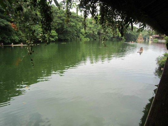 Villa Escudero Resort: view from our river unit