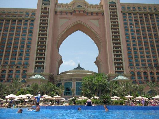 Atlantis From Pool Picture Of Atlantis The Palm Dubai