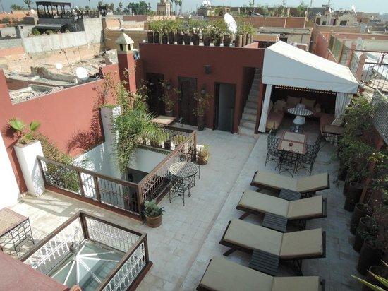 Riad Al Mansoura : Main sun deck