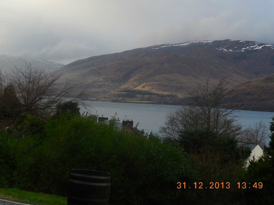 Highland Hotel: overlooking the loch from the hotel