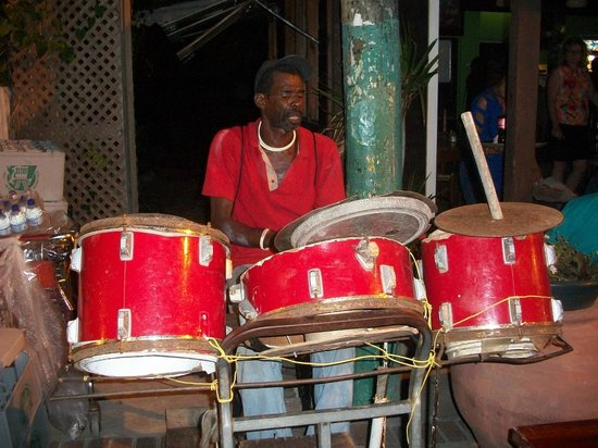 Gros Islet Street Party: Make sure you spend a few minutes watching this guy!