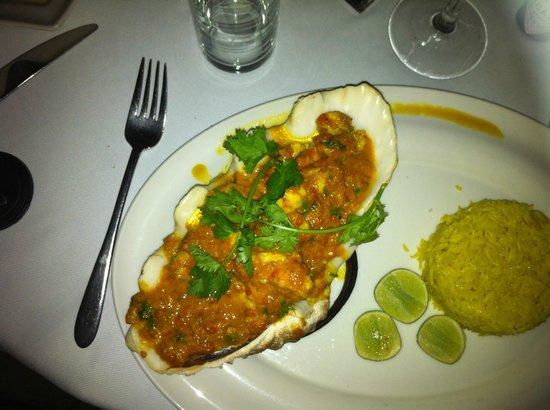 Tamarind Mombasa: Swahili lobster (I think) - spicy, coconut based sauce