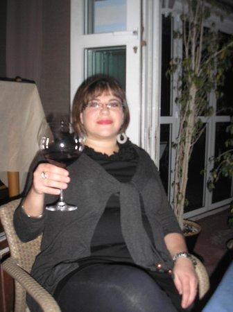 Restaurante La Nuova Scarpetta: enjoying wine at La Scarpetta