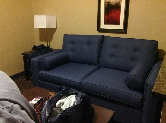 Comfort Suites Kelowna : Room 205 Sitting area - comfortable couch