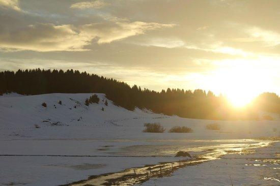 Hotel Ty Nordic: coucher de soleil depuis la chambre