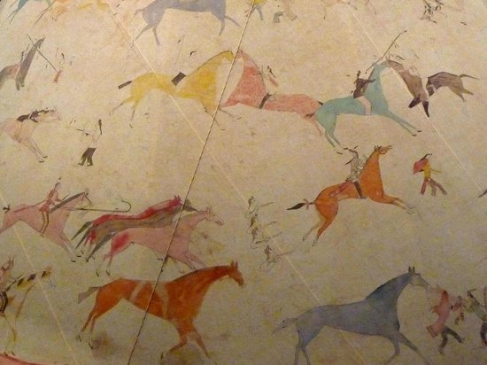 National Museum of the American Indian : Plains Indian tee-pee detail