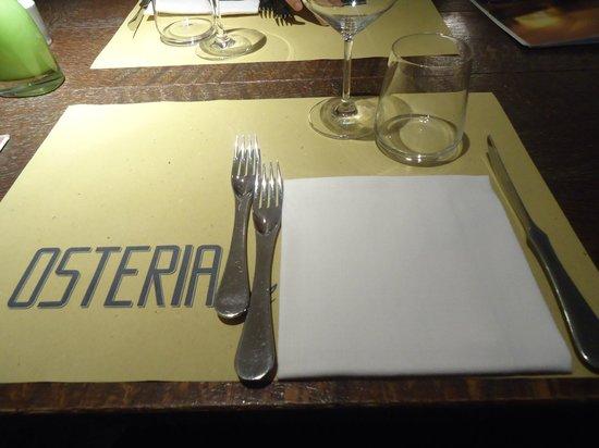 Osteria dell'Orologio: la table