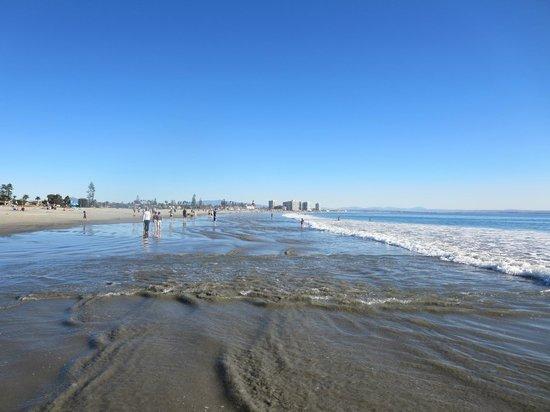 Coronado Municipal Beach : looking south toward the del