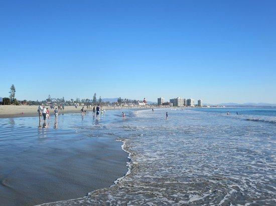 Coronado Municipal Beach : people in the water