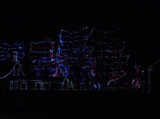Upper Canada Village: Very ambitious tree lighting