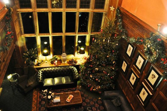 Wrea Head Hall: Christmas in the Great Hall from the Gallery