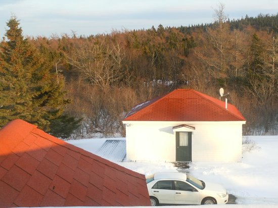 West Quoddy Head Station: View of The Cottage from the tower in the Lodge