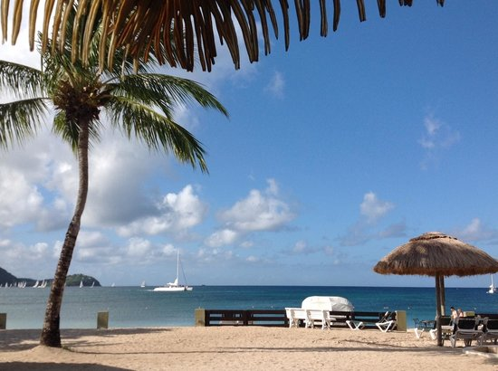 Sandals Grande St. Lucian Spa & Beach Resort: View from our loungers at Lover's Pool