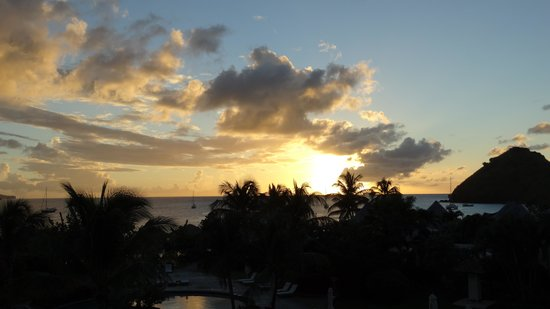 Sandals Grande St. Lucian Spa & Beach Resort: Sunset view from our room