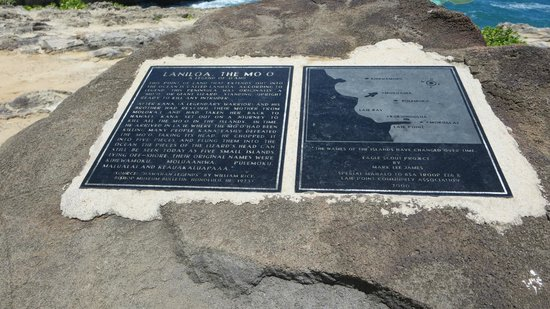 Laie Point State Wayside Park: A Legend of Oahu Marker