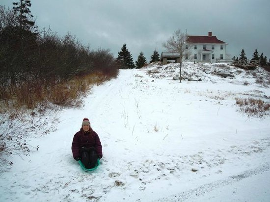 West Quoddy Head Station: Great sledding hill