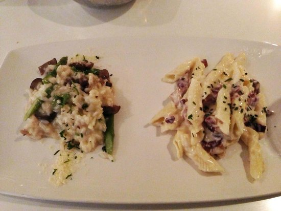Filini : risotto and truffle pasta