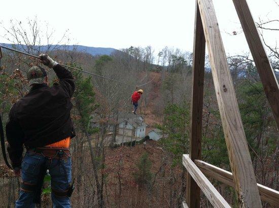 Wears Valley Zipline Adventures: Teah