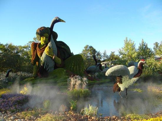 Montreal Botanical Gardens: escultura de flores
