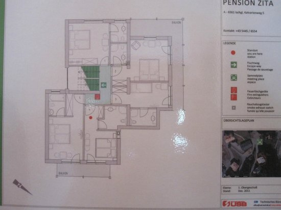 Chalet Zita : Map of first floor