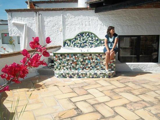 Hotel Casa Blanca San Miguel: Jacuzzi en la Terraza (por el clima fue una lastima no poder disfrutarlo)