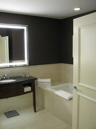 JW Marriott Chicago : Double vanity in huge bathroom.